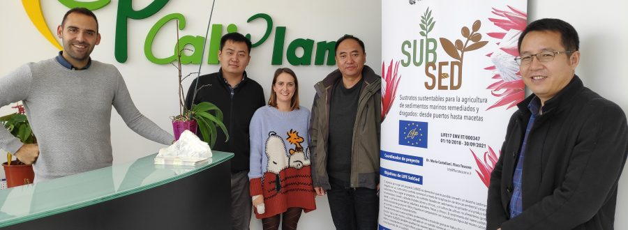 Presentación del proyecto Life Subsed en el Shaanxi Fruit Industrial Group y estudiantes de la Universidad Miguel Hernández – 23 de noviembre de 2018