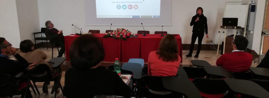 """Life Subsed en la conferencia """"Sfide e opportunità di ricerca in orticoltura e florovivaismo: il ruolo del CREA"""" celebrada en Pontecagnano (Italia) – 13-14 de diciembre de 2018"""