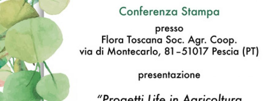 Press conference at the headquarters of Flora Toscana in Pescia – 22 May 2019
