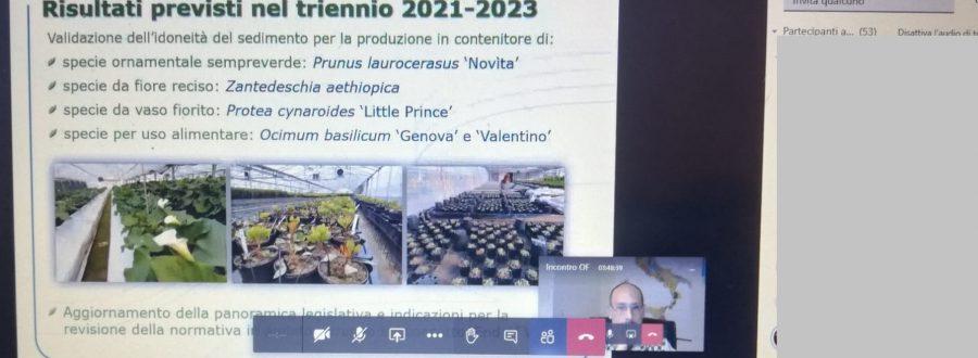 """LIFE SUBSED at the """"III incontro annuale del Centro di Ricerca Orticoltura e Florovivaismo"""" – 17 December 2020"""